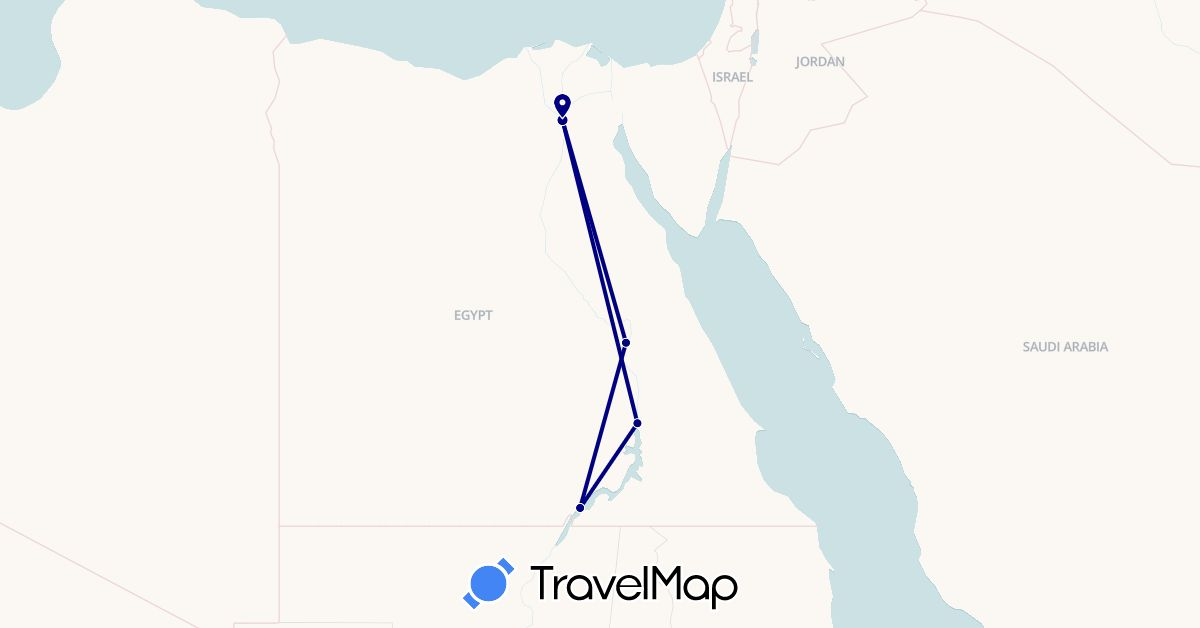 TravelMap itinerary: driving in Egypt (Africa)